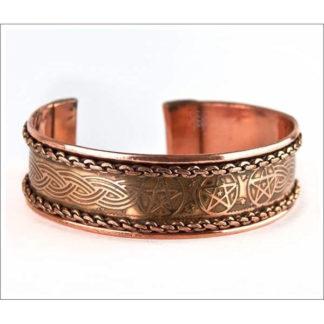 bracelet cuivre pentagramme