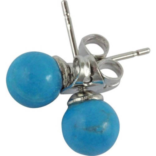 Boucles d'oreilles : turquoise (perceuses)
