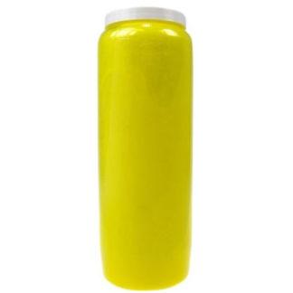 bougie neuvaine jaune