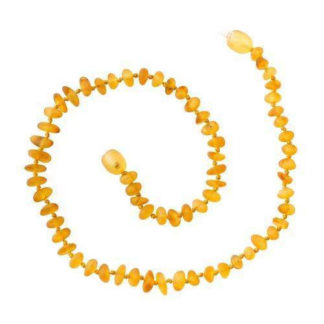 Collier baroque ambre miel