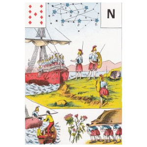 neuf de carreau toison d'or grand lenormand