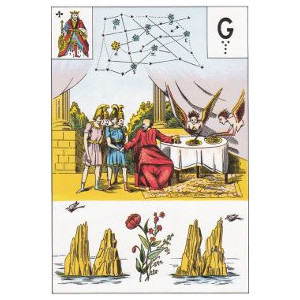 Roi de trèfle toison d'or grand lenormand
