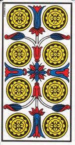 huit de deniers tarot de Marseille