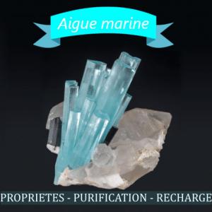 Aigue marine propriétés en lithothérapie