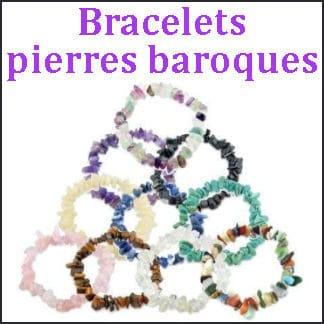 Bracelets pierres baroques