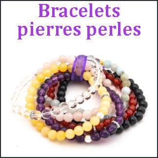 Bracelets pierres perles