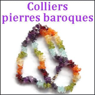 Colliers pierres baroques