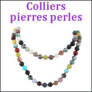 Colliers pierres perles