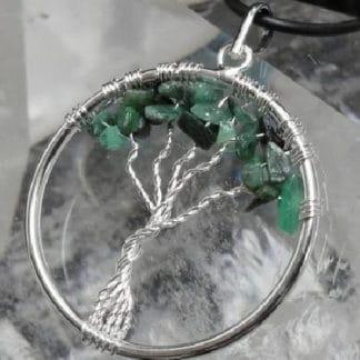 pendentif arbre de vie émeraude