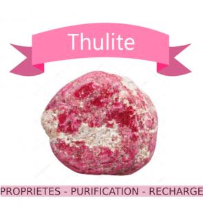 Thulite propriétés en lithothérapie