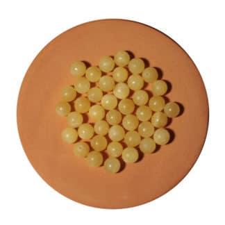 Perle de calcite jaune